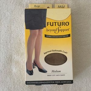 New Futuro Compression Pantyhose Beige size medium